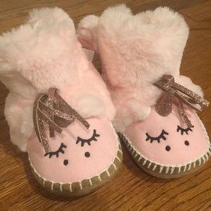Unicorn toddler slippers